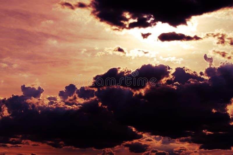 云彩背景的抽象颜色 库存照片