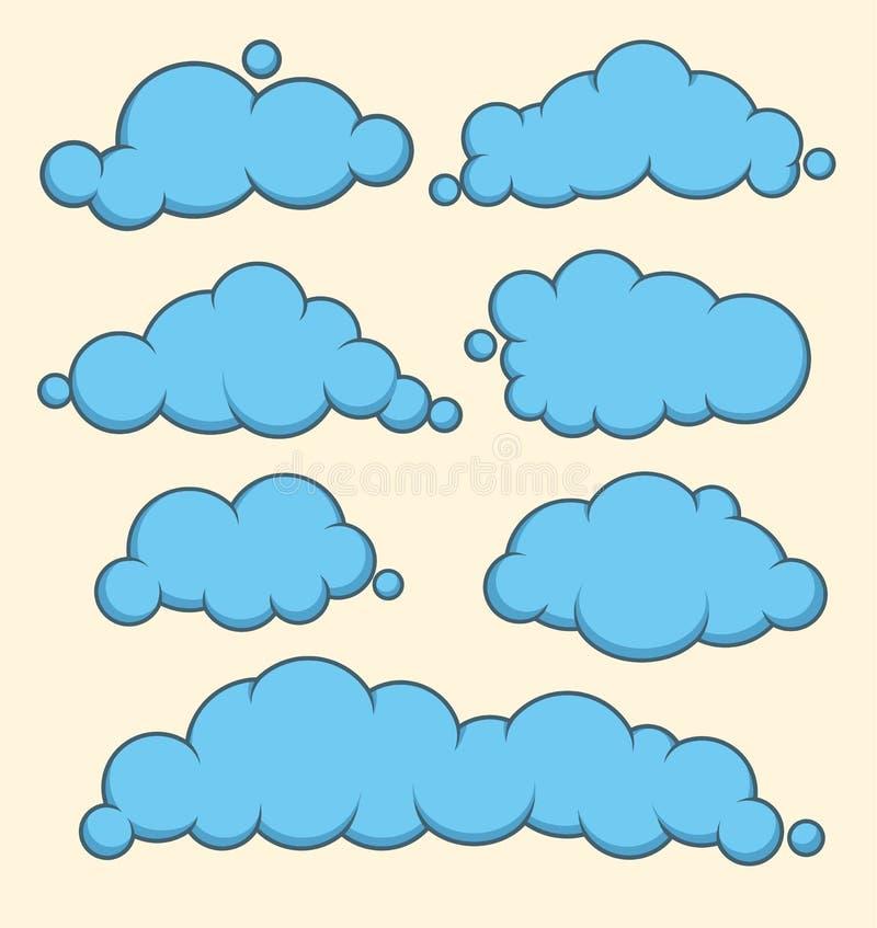 云彩蓝色传染媒介集合 向量例证