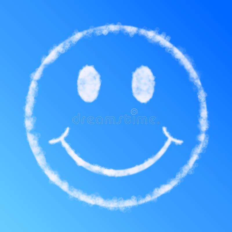 云彩表面面带笑容 皇族释放例证