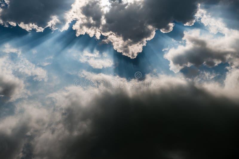 云彩视图 库存图片