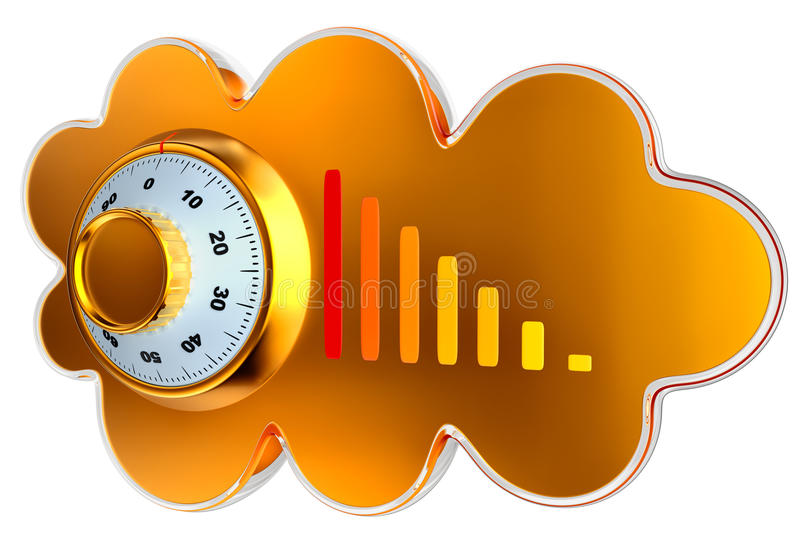 云彩计算和存贮证券概念 向量例证
