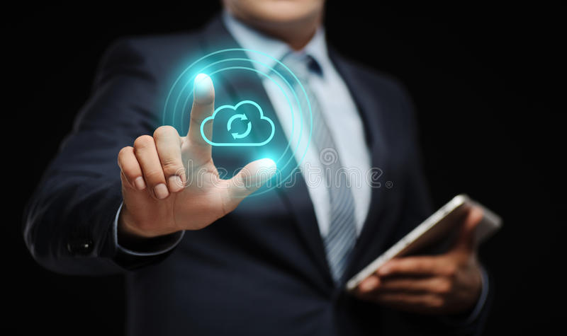 云彩计算技术互联网存贮网络概念 免版税库存照片