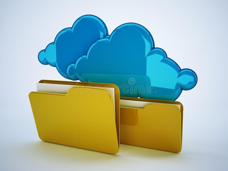 云彩计算技术 向量例证
