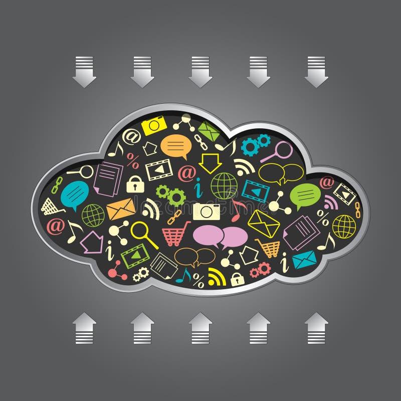 云彩计算的向量 向量例证
