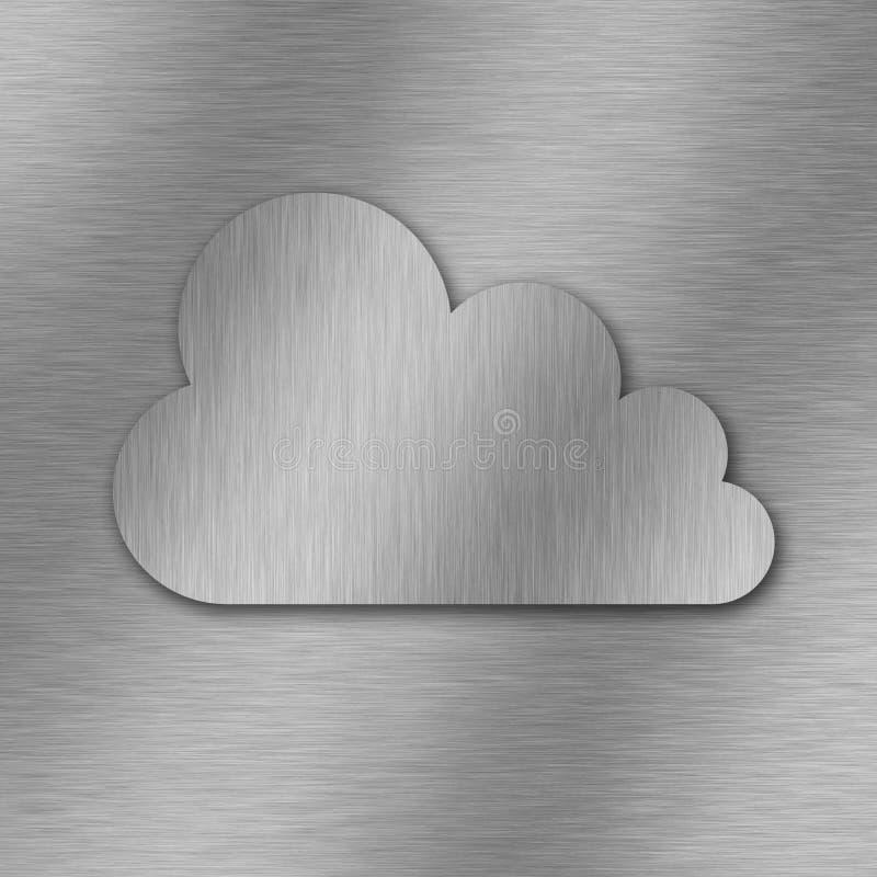 云彩计算的背景 皇族释放例证