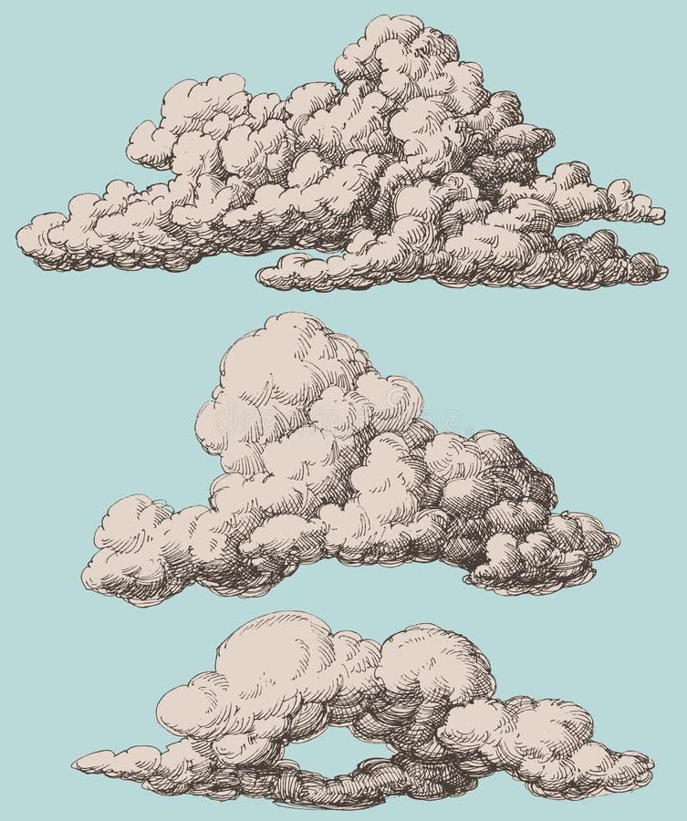 云彩设置了 库存例证