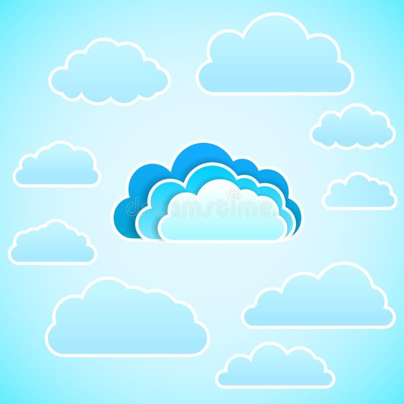 云彩象。传染媒介例证 皇族释放例证
