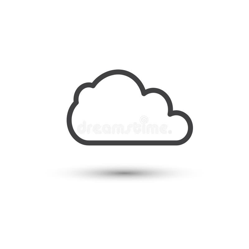 云彩象传染媒介 简单的平的标志 向量例证