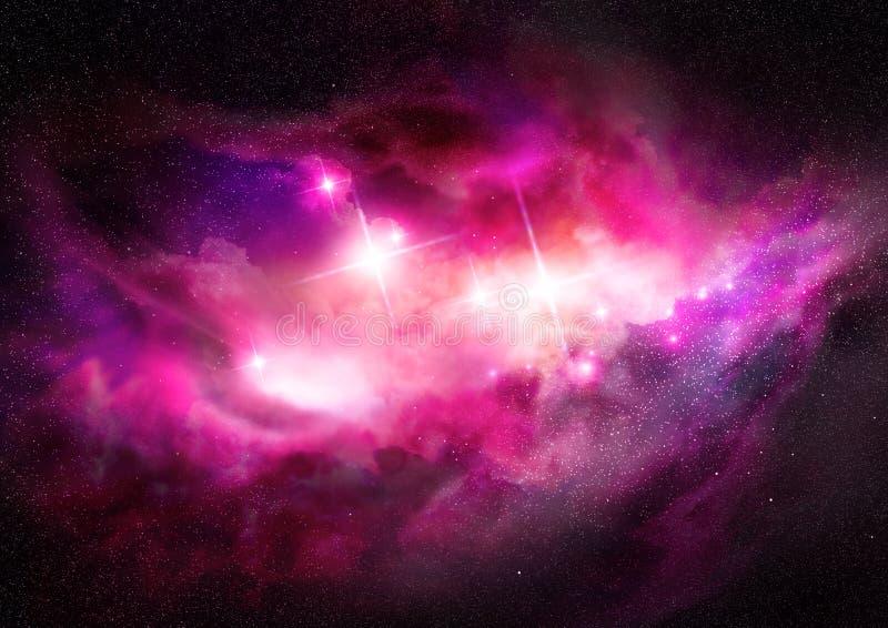云彩跨星星云空间 向量例证