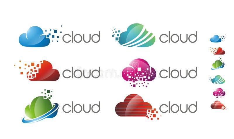 云彩软件梯度商标 库存例证