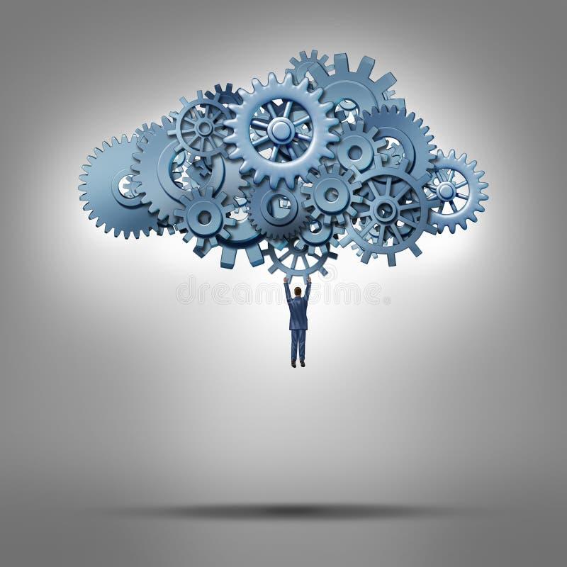 云彩通入 向量例证