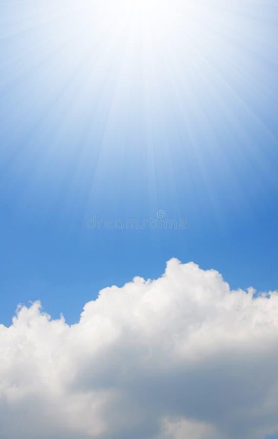 云彩阳光白色 库存照片