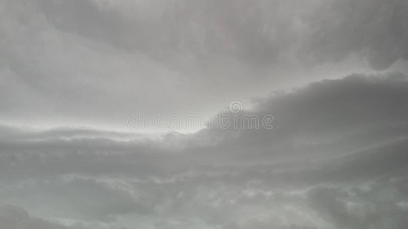 云彩阴暗天天空 库存照片