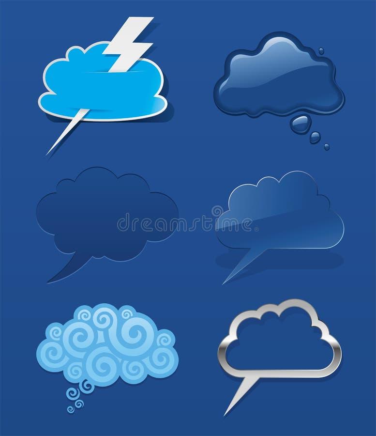 云彩集合演讲 向量例证