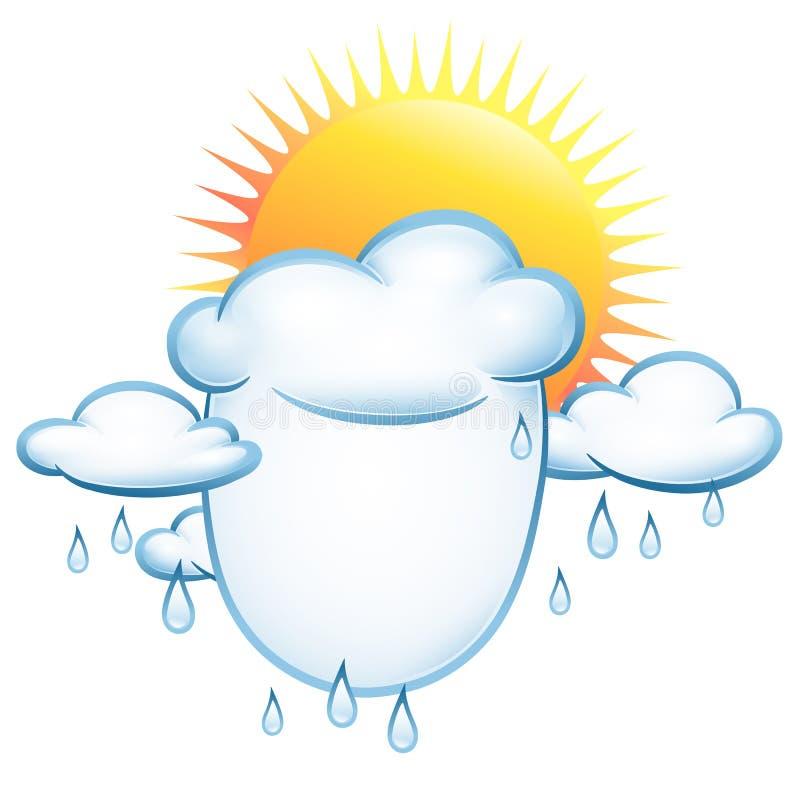 云彩雨星期日 向量例证