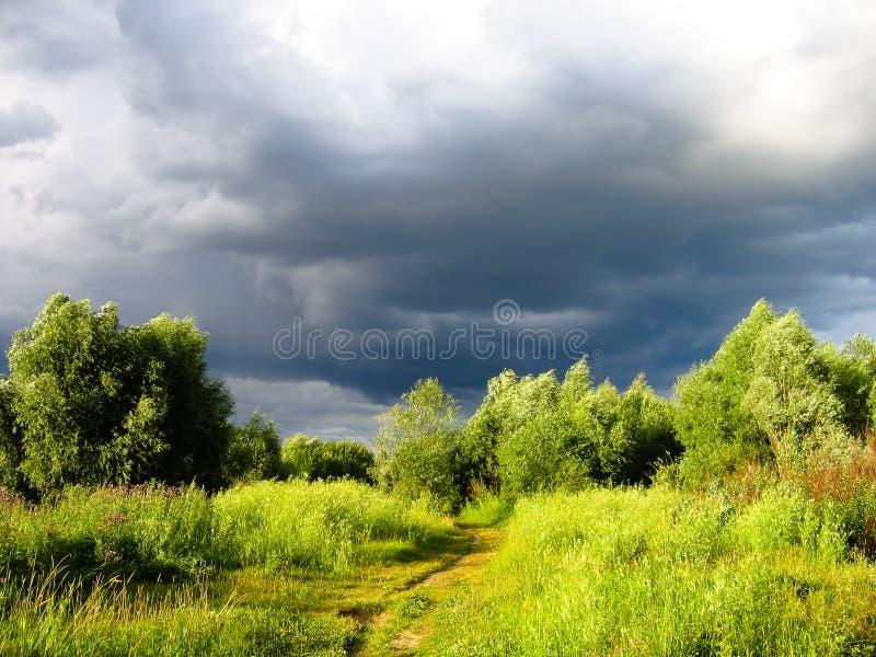 云彩雨 库存照片