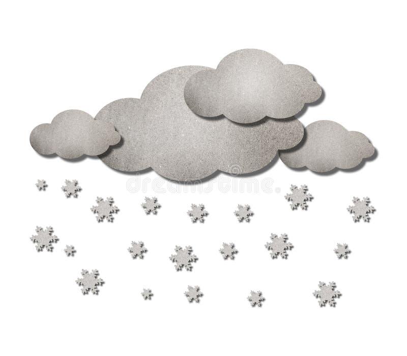 云彩雪天气 向量例证
