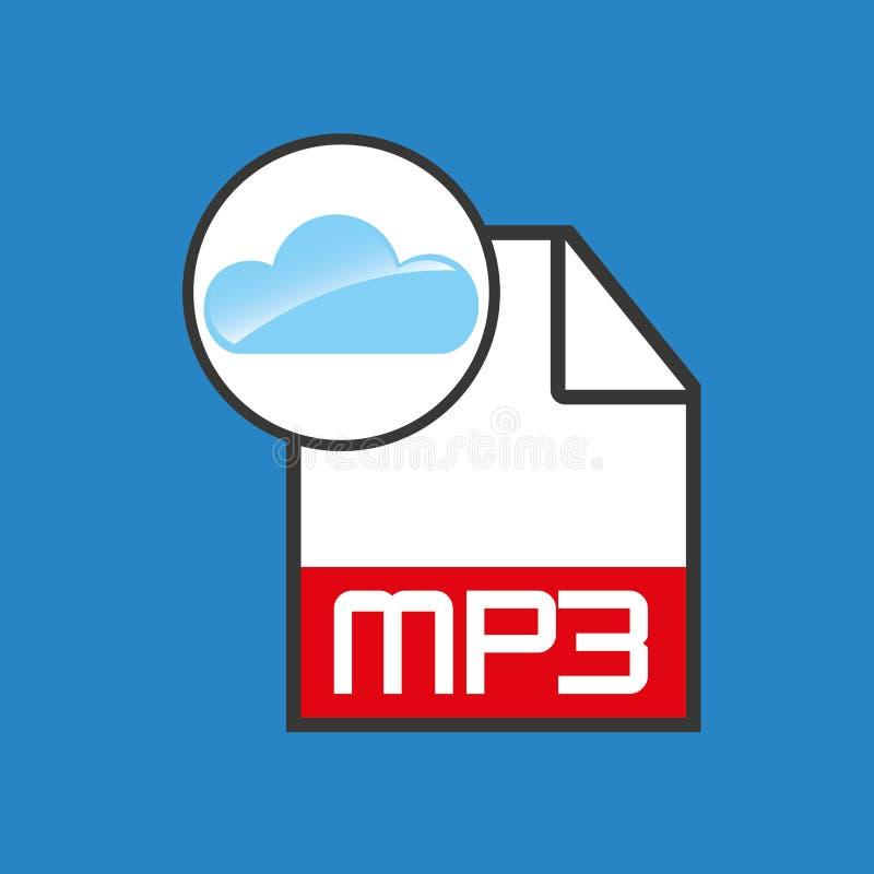 云彩音乐概念文件mp3 向量例证