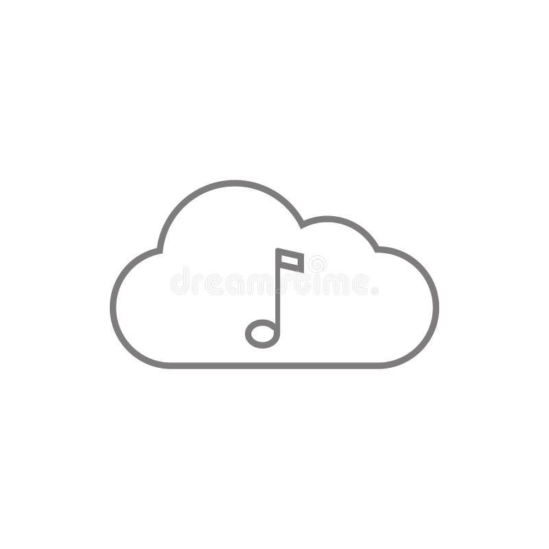 云彩音乐象 网络安全的元素流动概念和网应用程序象的 网站设计的稀薄的线象和 向量例证