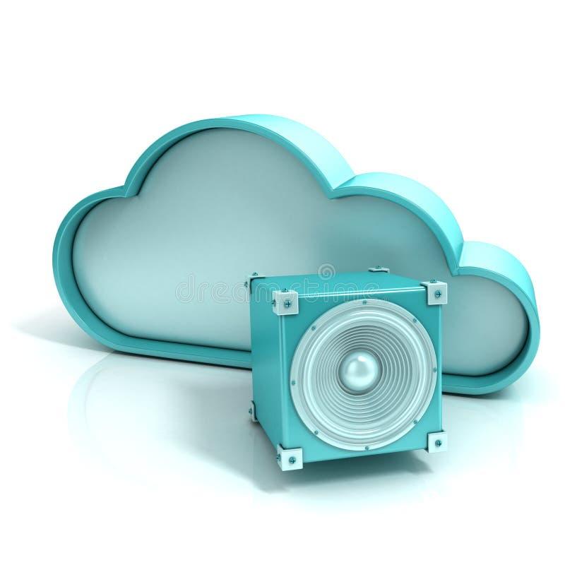 云彩音乐3D计算机象 向量例证