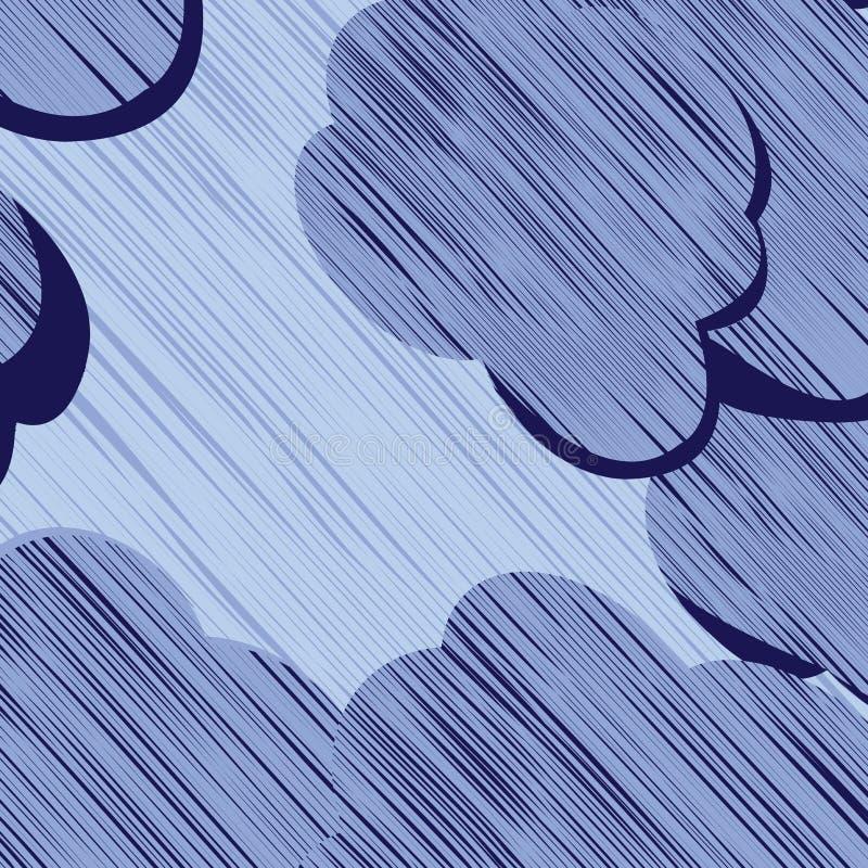 云彩风暴 向量例证