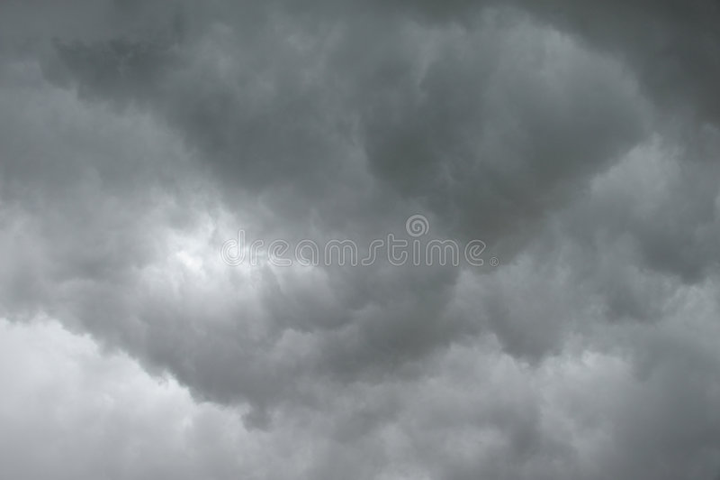 云彩黑暗雨 图库摄影