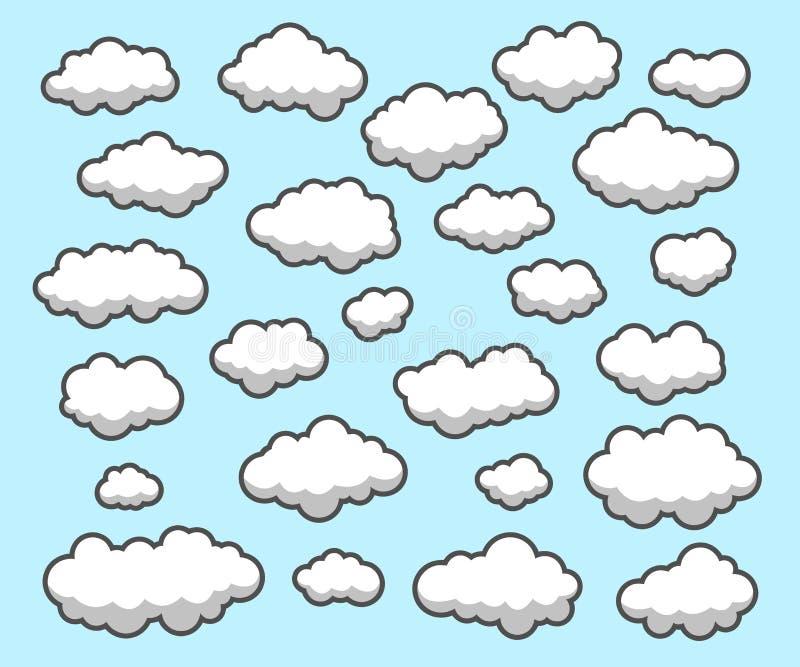 云彩,天空 库存例证