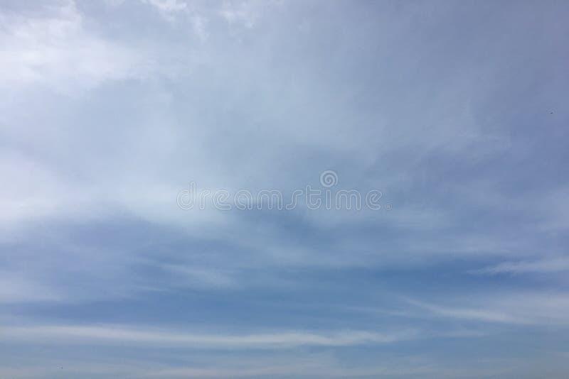 云彩,天蓝色背景 云彩天空蔚蓝 免版税图库摄影