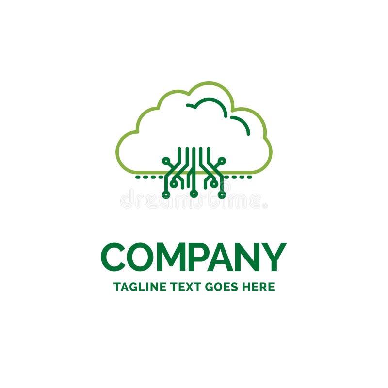云彩,计算,数据,主持,网络平的企业商标临时雇员 向量例证