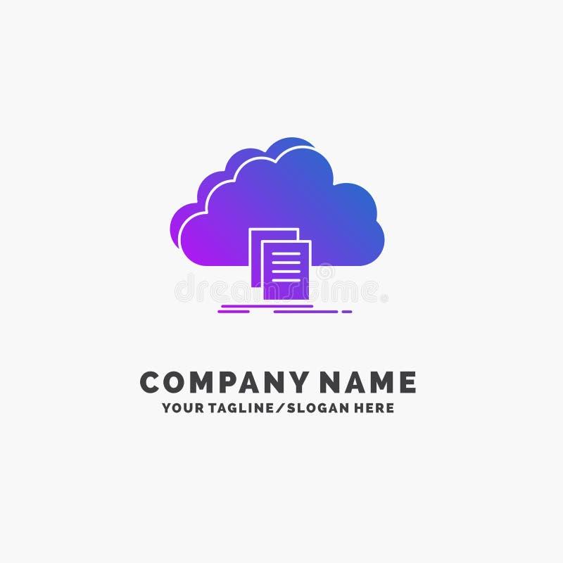 云彩,通入,文件,文件,下载紫色企业商标模板 r 库存例证