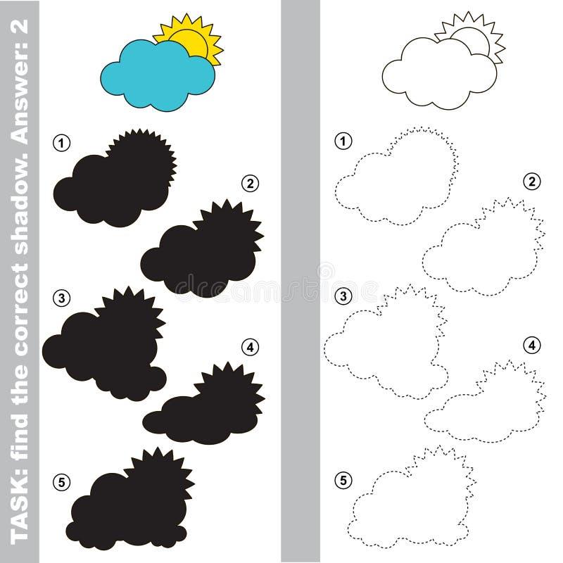 云彩 发现真实的正确阴影 向量例证