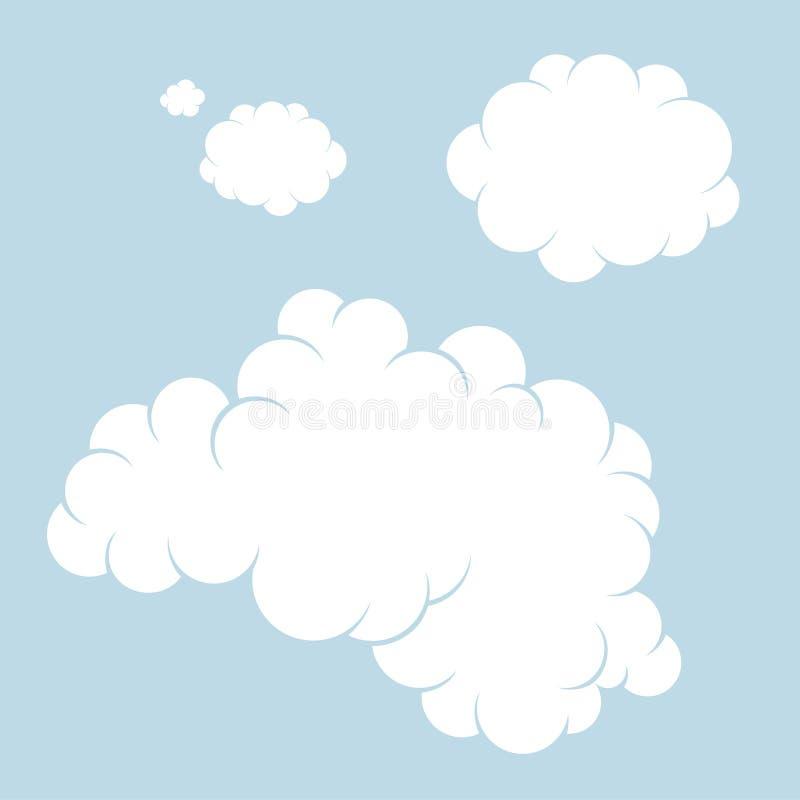 云彩 集合 向量例证