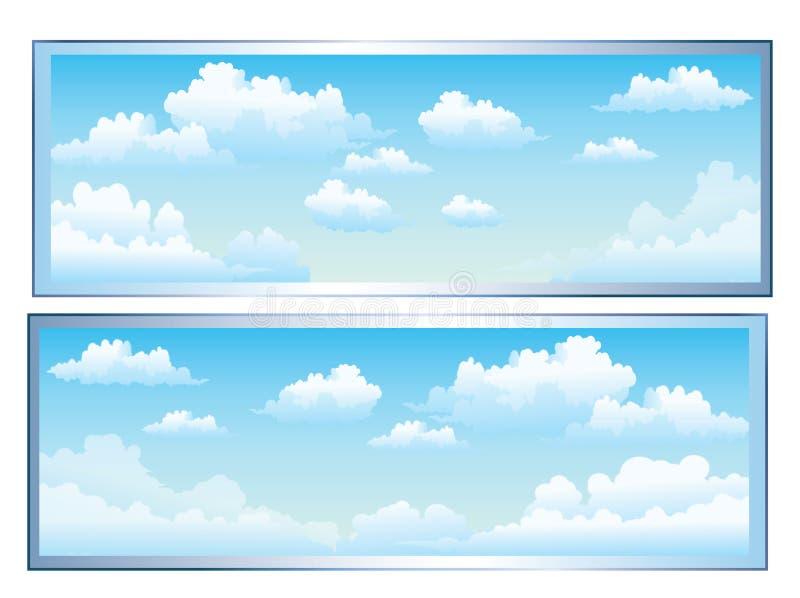 云彩 向量例证