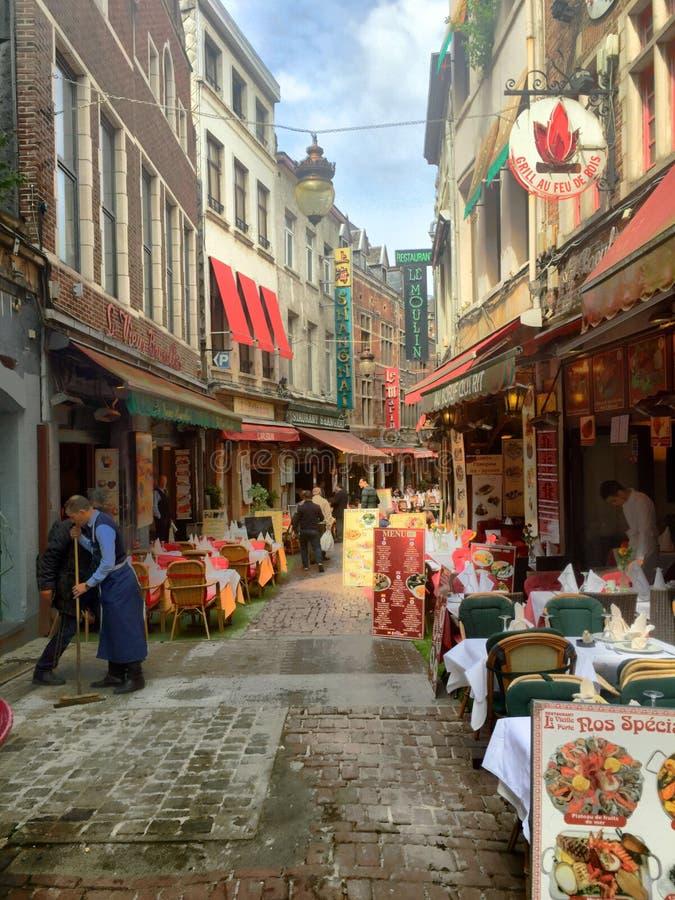 云香des bouchers在布鲁塞尔 免版税库存照片