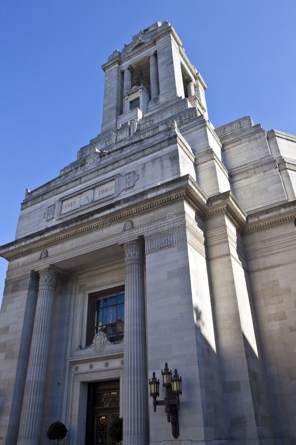 互济会会员大厅伦敦s 图库摄影