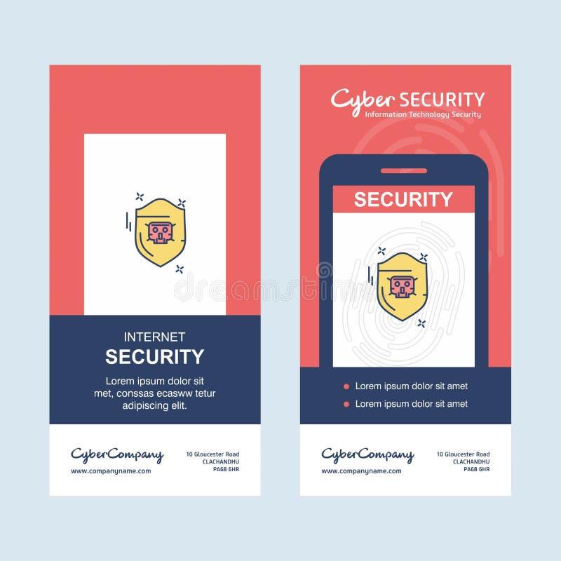 互联网与创造性的设计和商标的安全设计 库存例证