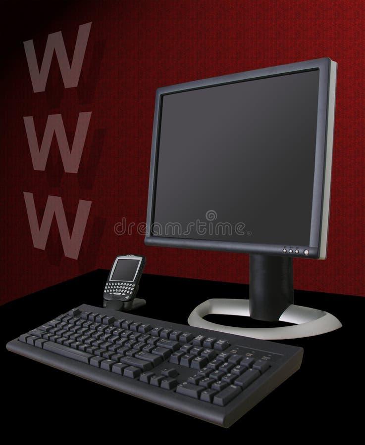 互联网主题 皇族释放例证