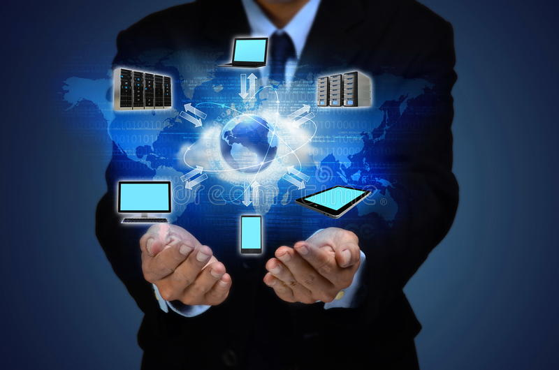 互联网云彩企业概念 库存照片
