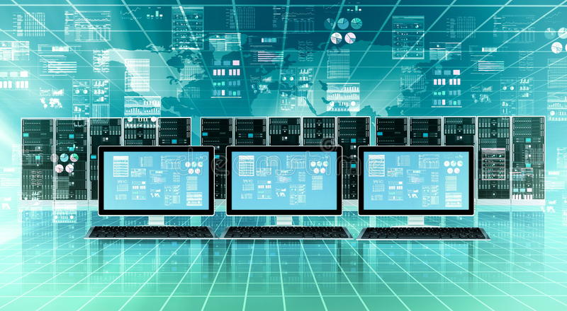 互联网云彩服务器概念