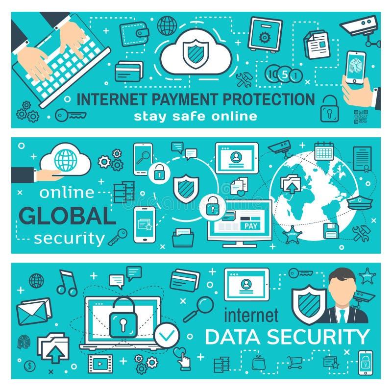 互联网付款和安全网交易 皇族释放例证