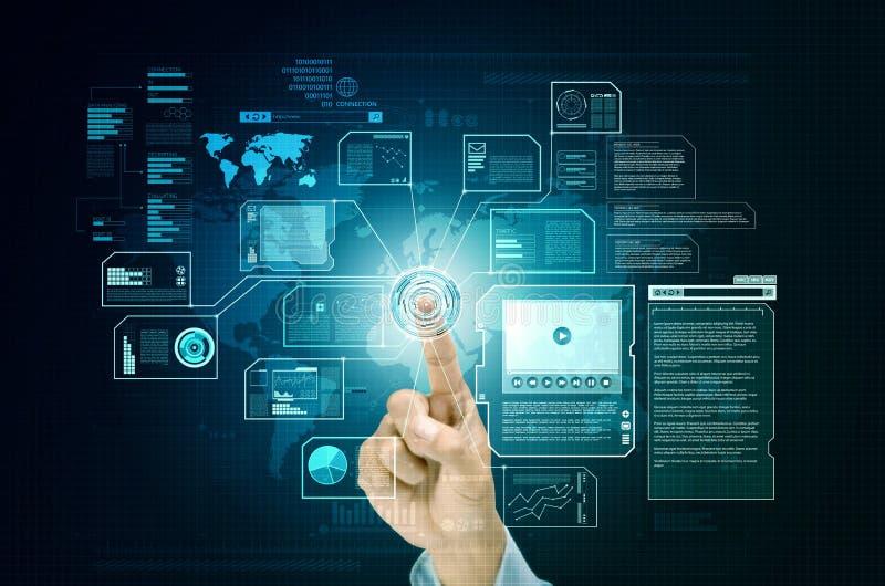 互联网全球性和全世界企业信息 库存图片