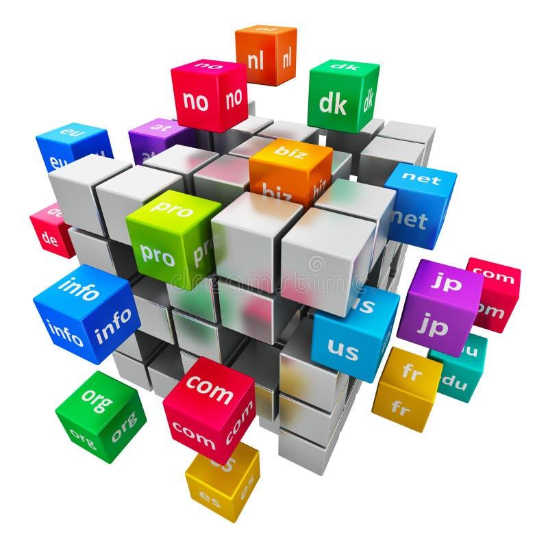 互联网和域名概念 皇族释放例证