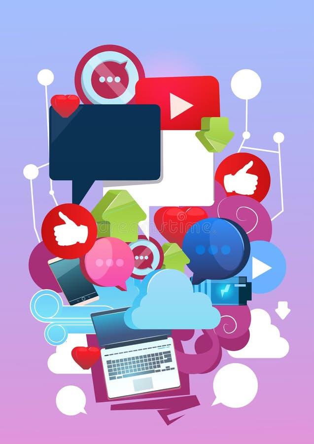互联网在网上Blogging社会网络通信概念 库存例证