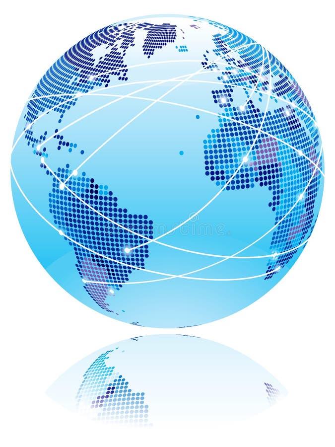 互联网地球 皇族释放例证