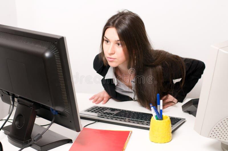互联网妇女 免版税库存图片