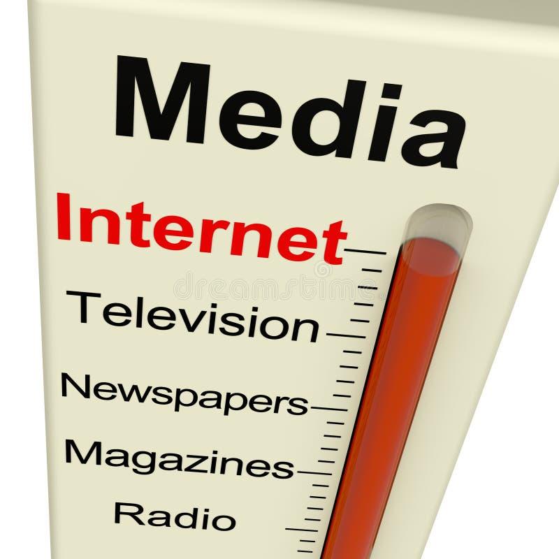 互联网媒体测量仪显示市场营销 向量例证