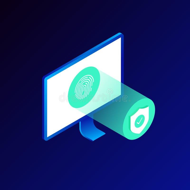 互联网安全和系统保护概念 皇族释放例证