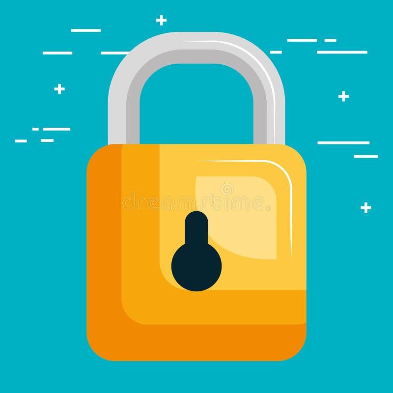 互联网安全挂锁象 向量例证
