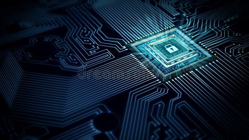 互联网安全数据处理概念 免版税图库摄影