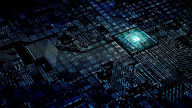 互联网安全数据处理概念 库存例证